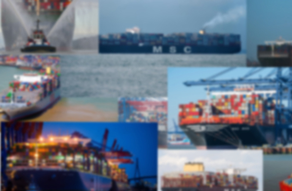 Containerschiffe Montage