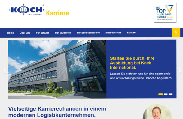 Koch Karriere-Website